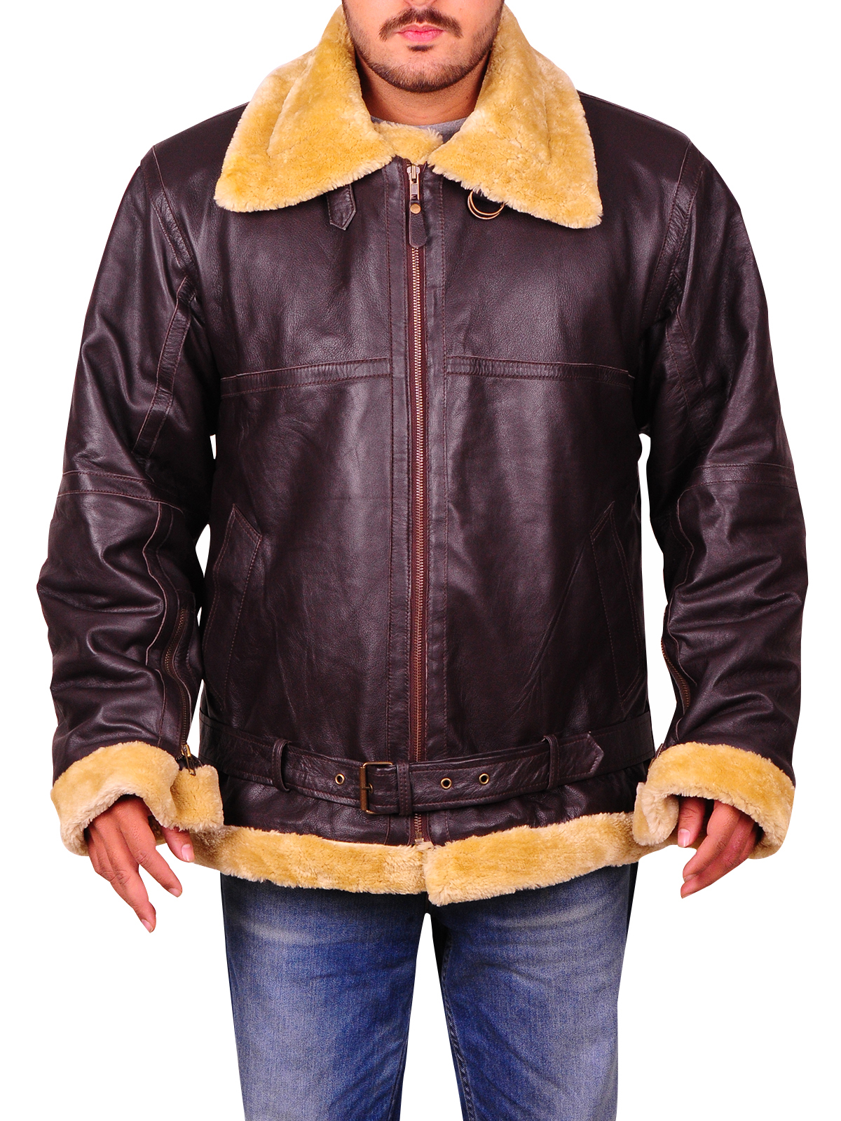 Flight-Bomber-Ginger-Shearling-Fur-Coat-F-C