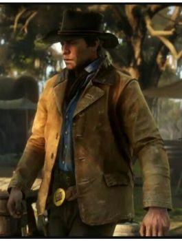 Red Dead Redemption II Leather Coat Jacket