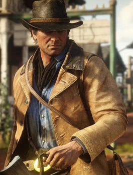 Video Game Red Dead Redemption II Leather Coat Jacket