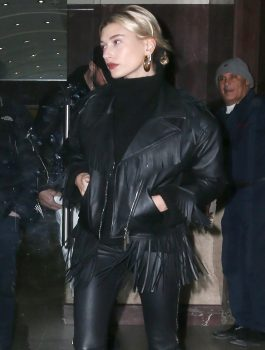 Hailey-Baldwin-Stylish-Leather-Jacket