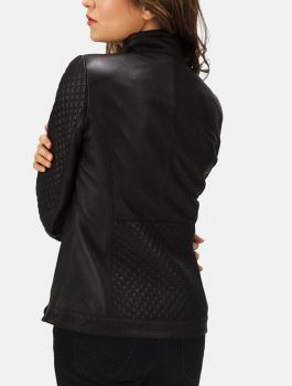 Women-Quilted-Black-Leather-Biker-Jacket