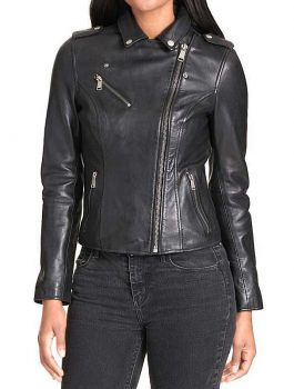 Black Leather Jacket, Ladies Jacket