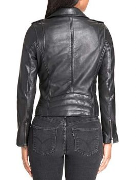 Ladies Jacket, black biker jacket