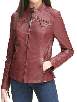 Women Leather Jacket, Biker jacket