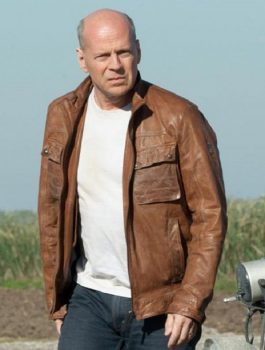 Men Fashion, Bruce-Willis Leather Jacket