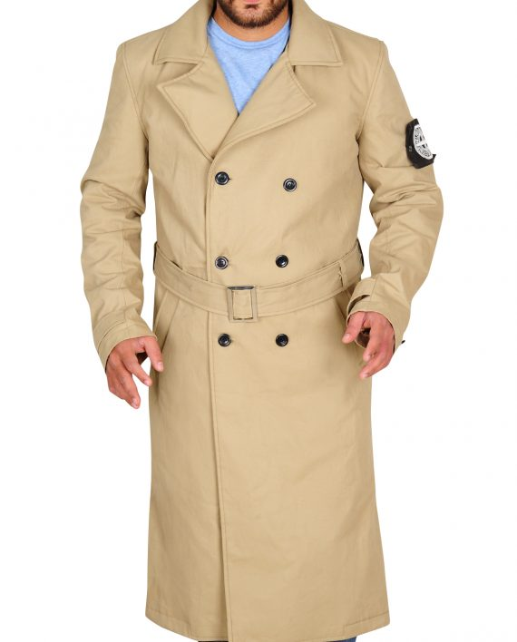 Charlie Hunam Coat, Men Trench Coat