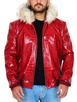 Men's Fur Hoodie, Men Leather Jacket