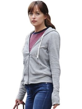 Wom fashion, Dakota-Johnson-Hoodie-Jacket