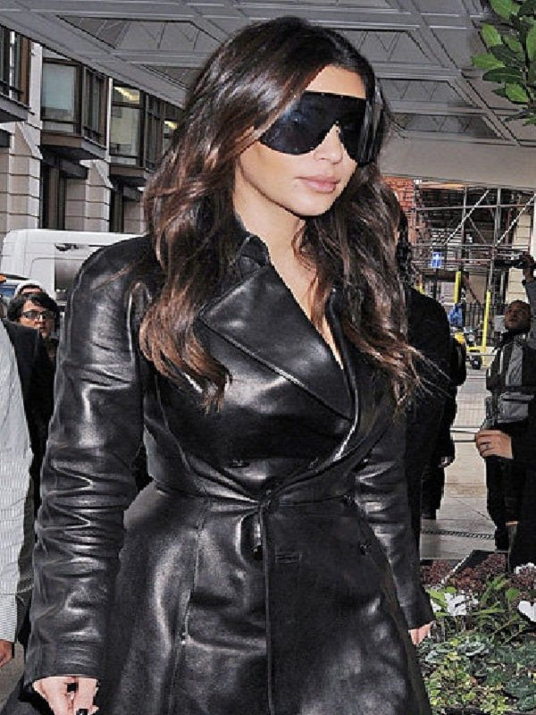 Ladies Trench Coat, Kim-Kardashian Coat