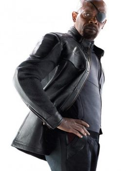 Nick Fury Jacket, Men Leather Jacket
