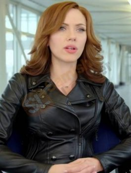 Scarlett Johansson Leather Jacket, Captain America Jacket