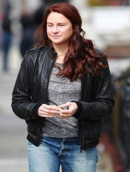 Shailene Woodley Jacket, Ladies Leather Jacket