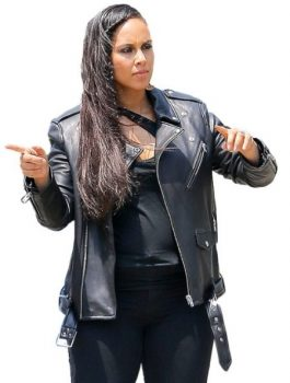 Women Leather Jacket, Alicia-Keys Black Leather Jacket