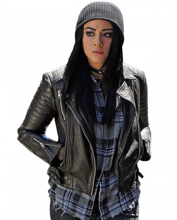 Chloe Bennet Leather Jacket, Women Jacket