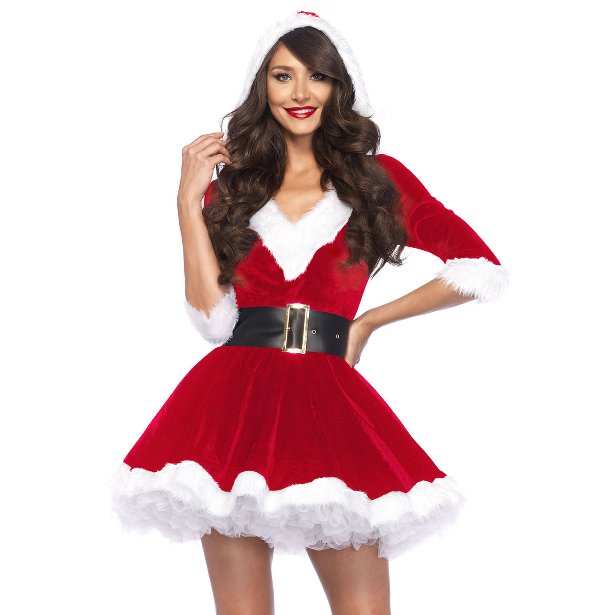 Womens Red Costume, women's christmas apparel