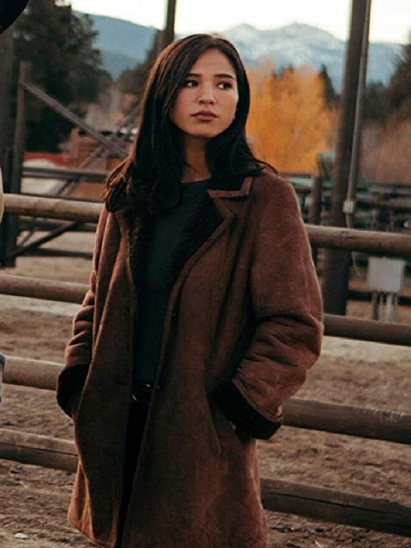Kelsey Asbille Coat, Brown Women Coat