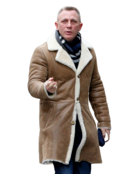 Daniel Craig Winter Jacket, Shearling Jacket