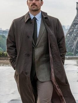 Henry Cavill Trench Coat, Men Coat