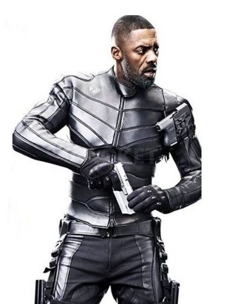 Hobbs and Shaw Idris Elba Leather Jacket