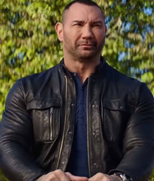 my spy leather jacket, dave bautista jacket