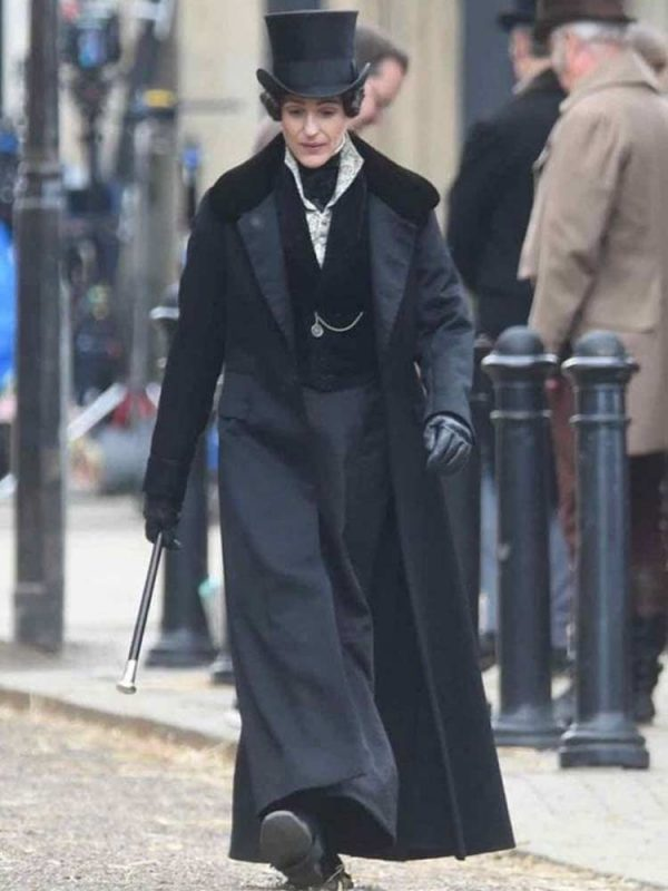 Gentleman Black Women Coat, Suranne Jones Coat, Long Coat For Women, Women Trench Coat, Suranne Jones Black Coat