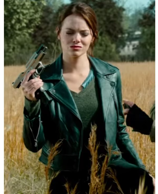 Emma Stone Leather Jacket, Women Leather Jacket