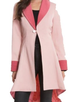 Fantastic Beasts Queenie Pink Wool Long Coat