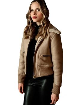 Halston Sage Sheepskin Shearling Jacket