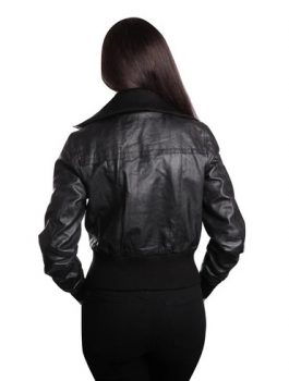 Women's Seductive Bomber Leather Jacket